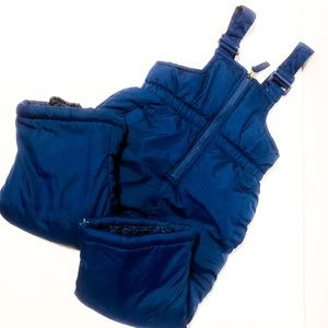 Navy Blue Pink Platinum 18mo Snowsuit